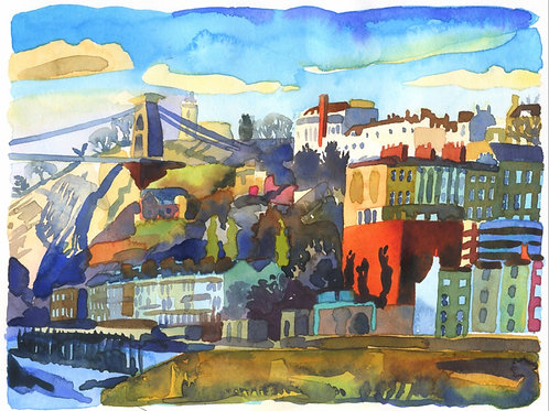 'Clifton From The Towpath' Print