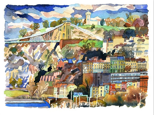 'Clifton From Bedminster Down' Print