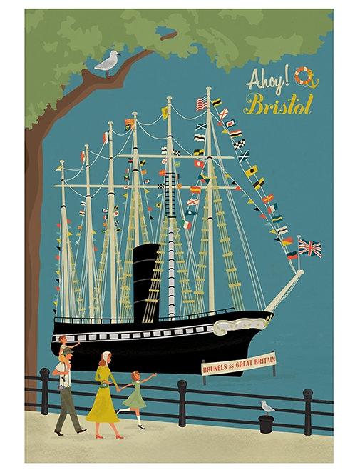 SS Great Britain Retro Print