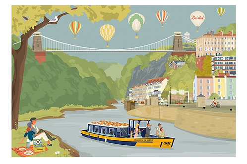 Avon Gorge Ferry Print