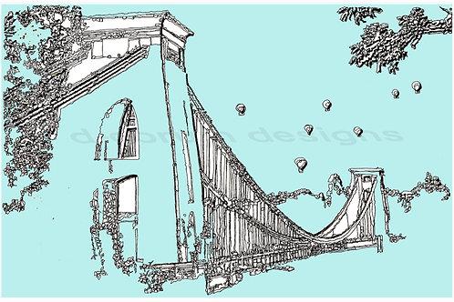 'Suspension Bridge, Blue' Plaque