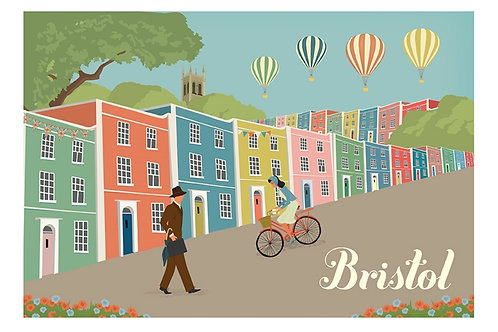 Bristol Colourful Houses Print