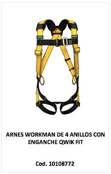 Arnes workman de 4 anillos 10108772