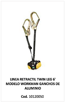 Line retractil twin leg workman 10120050
