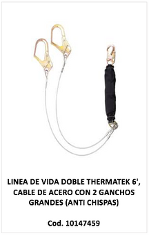 Linea de vida doble thermatek cable de acero, 10147459
