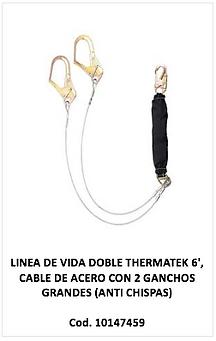 Linea de vida doble thermatek cable de acero, 10147459