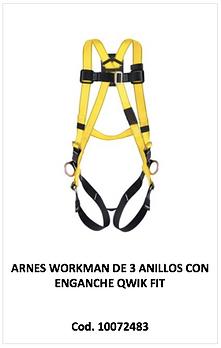 Arnes Workman de 3 anillos 10072483