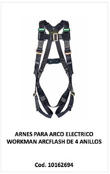 Arnes arco electrico workman arcflash 10162694
