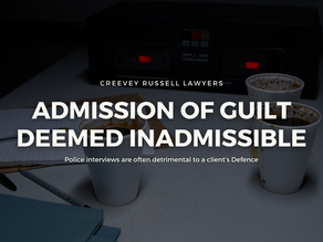 ADMISSION OF GUILTDEEMED INADMISSIBLE