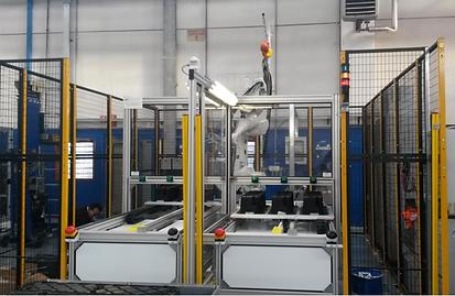 Isola robotizzata - Applicazione guarnizione siliconica Vasca 952