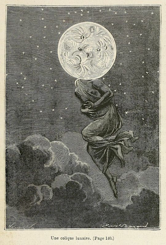 by Émile-Antoine Bayard and Alphonse de Neuville, from Jules Verne's novel Around the Moon, 1870