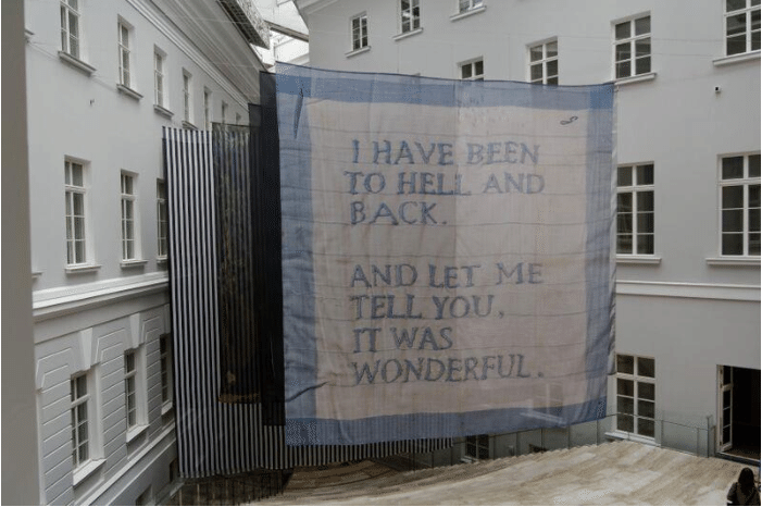 Dominique Gonzalez-Foerster, The handkerchief's opera, 2014, Manifesta 10, St Petersburg, Russia