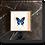 Thumbnail: Cadre RÍO papillon bleu fond écru