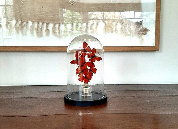Miniature CHANEL papillons rouges