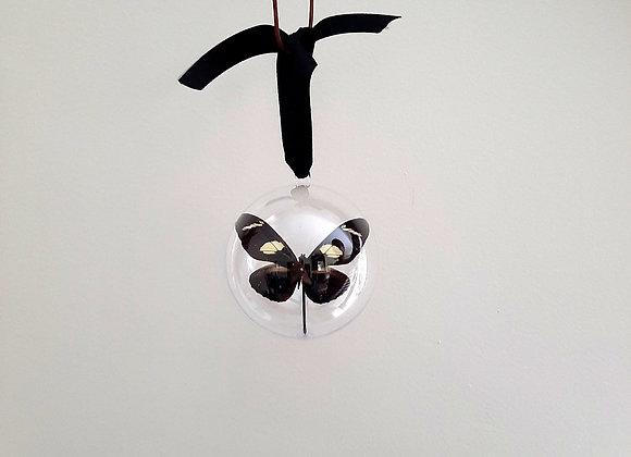 Boule décorative taille 1 papillon marron foncé