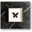 Thumbnail: Cadre RÍO papillon noir fond écru