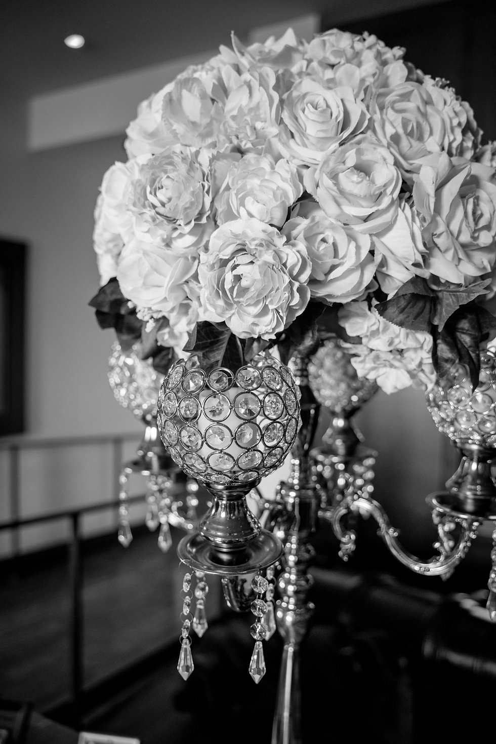 Flowers and Chandelier