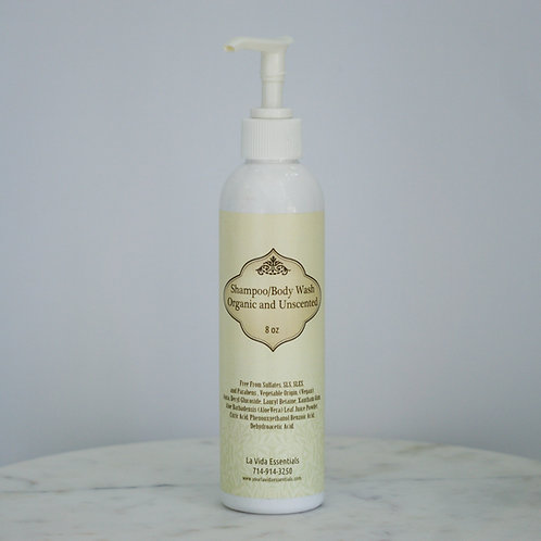 Unscented Organic Shampoo/Body Wash