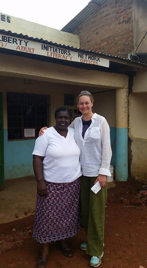 Florence Oyasi and Claire Sands