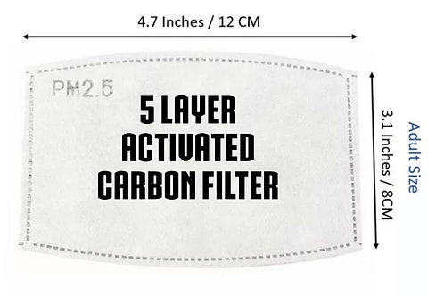 Activated 5 Layer Carbon Filter replacement For Face Mask PM2.5