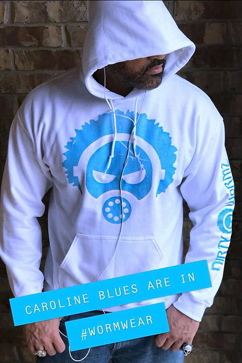 NORTH CAROLINA BLUE & WHITE HOODIE