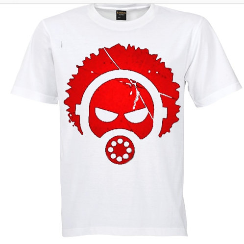 "CLSSIC ""DOK"" logo tee WHITE W RED"
