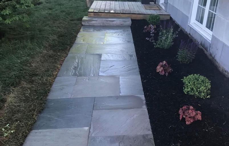 Flagstone Walkway & Planting