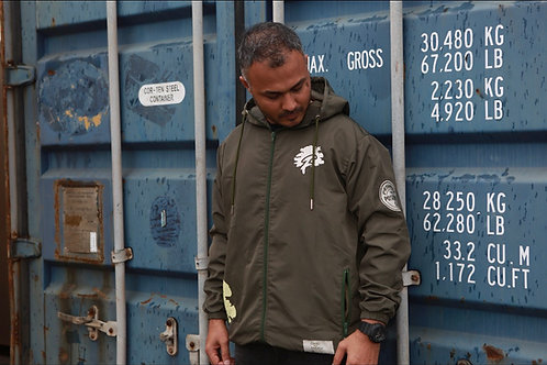 PTP Army Green & Cream Famuchi Windbreaker