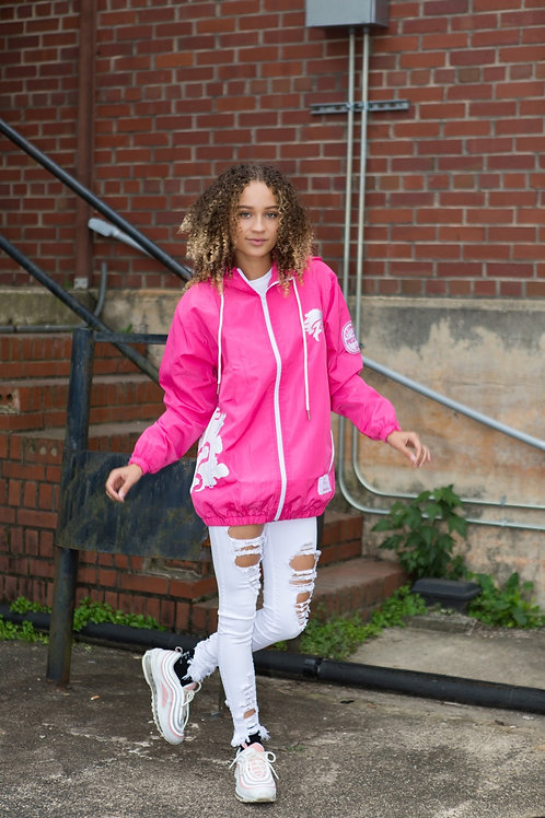 Promote the Positive Pink and White Windbreaker