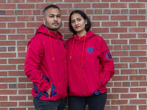 PTP Red and Navy Famuchi Windbreaker