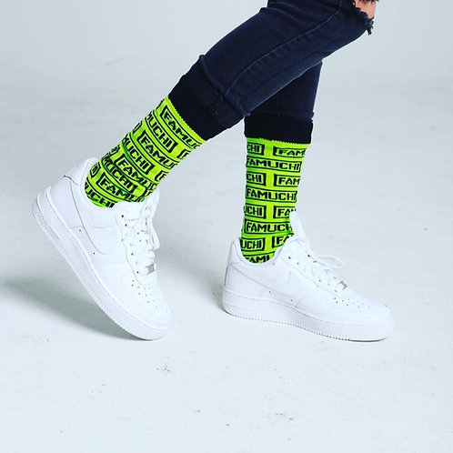 Big Block Logo Feet Pieces (Neon)