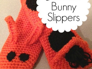 Crocheted Bunny Slippers