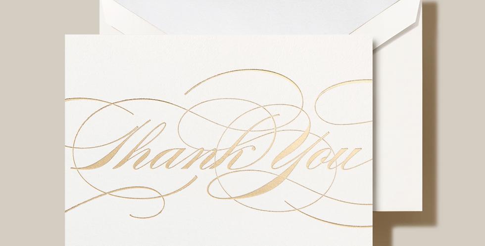Gold Flourish Thank You Notes