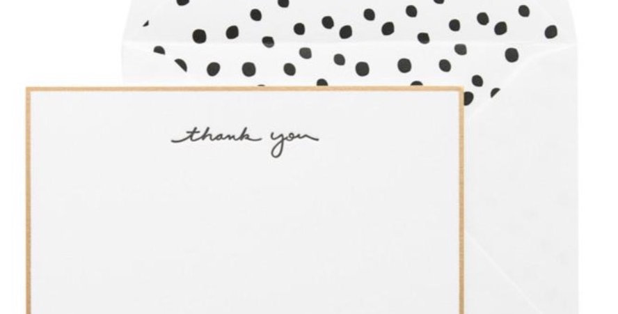 Scatter Dot Thank You Notes