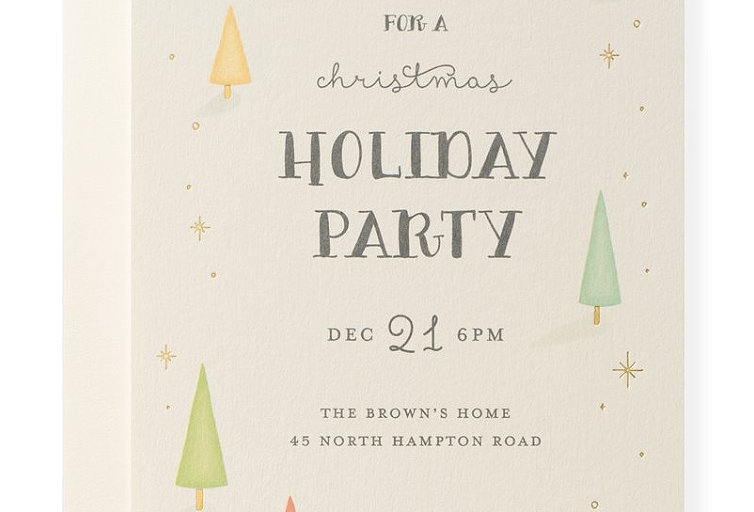 Custom Holiday Invitations