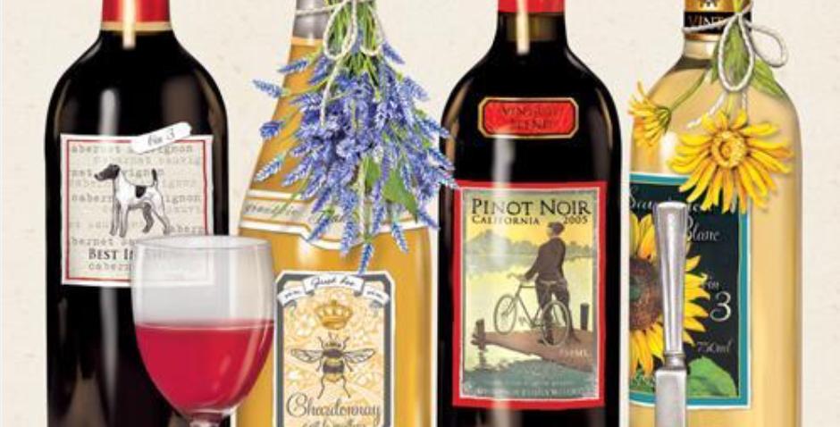 Fine Wines Beverage Napkins