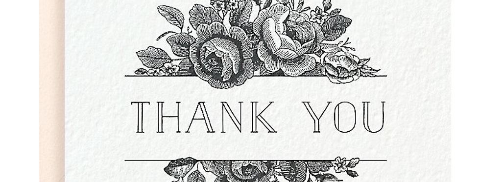 Antique Floral Thank You Notes