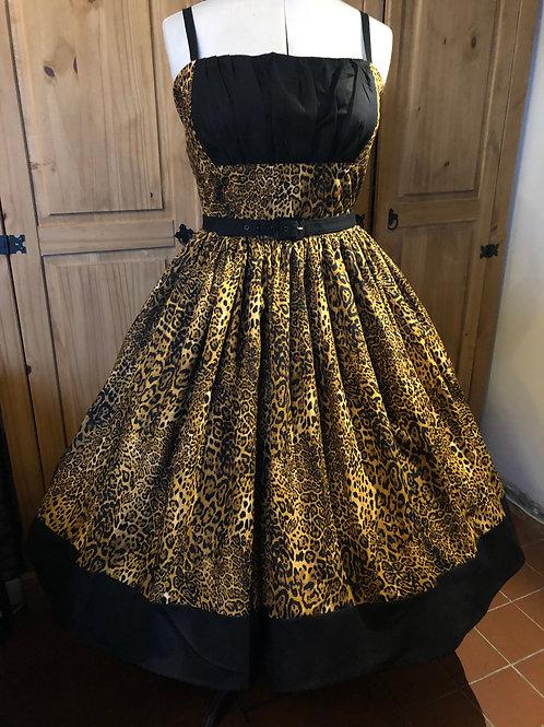 Fierce Leopard Patsy Border Dress