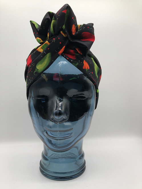 Hot Pepper Twisted Turban