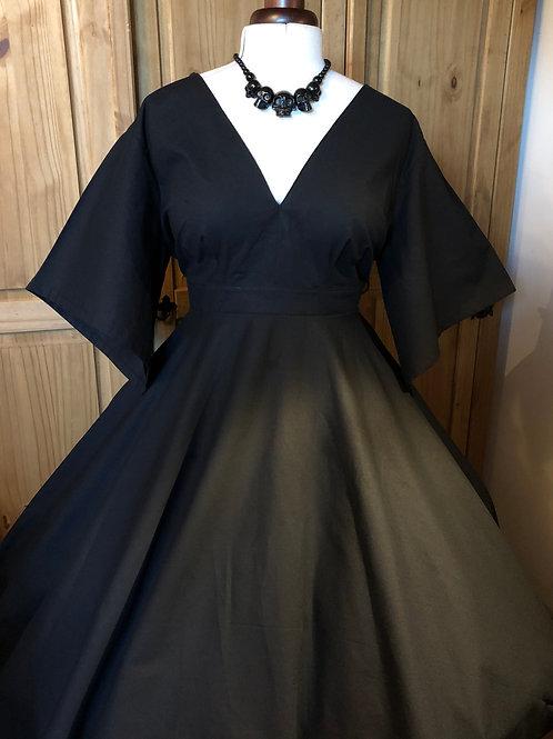 Black Cotton Daphne Dress Size 18