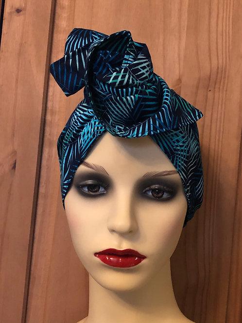 Tropical Fern Twisted Turban