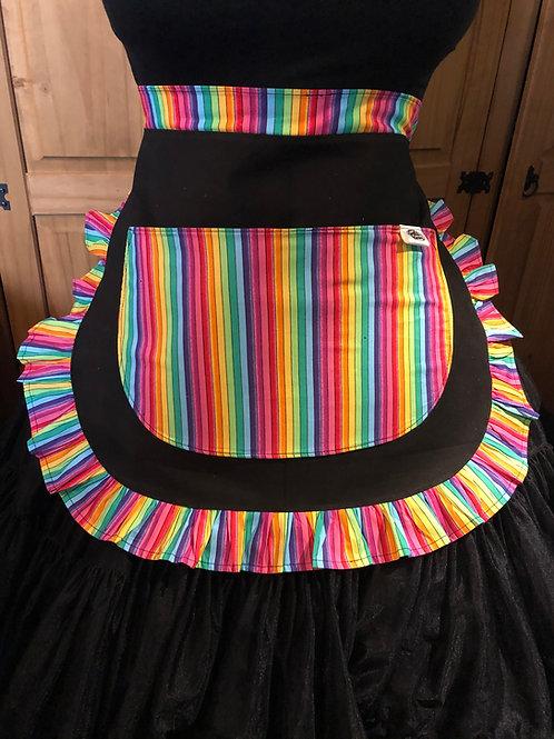 Rainbow Stripes Bouquet Pinny