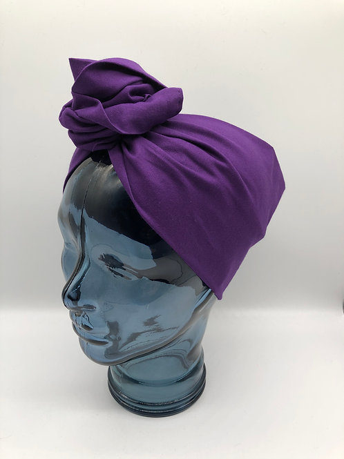 Imperial Purple Cotton Twisted Turban