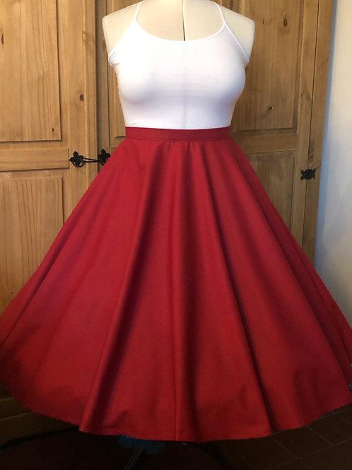 Crimson Red Cotton Florence Skirt