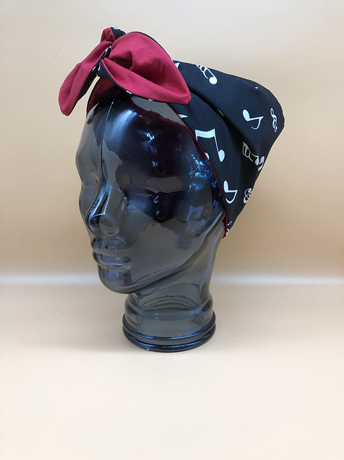 Musical Notes Twisted Headscarf