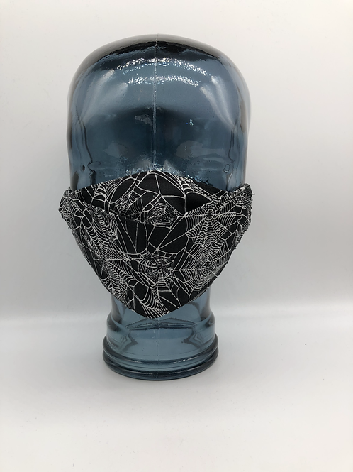 Spiders Web 3D Face Mask