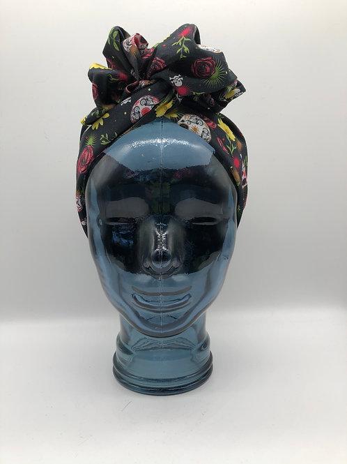 Rose & Skully Twisted Turban