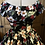 Thumbnail: Black Hibiscus Rose Gypsy Dress