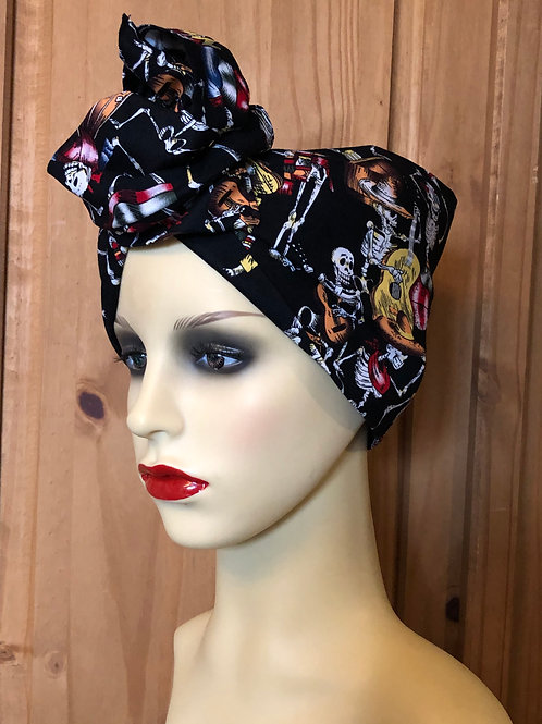 Day Of The Dead Twisted Turban