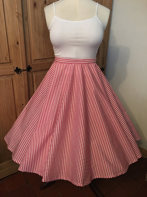 Red Gingham Florence Skirt